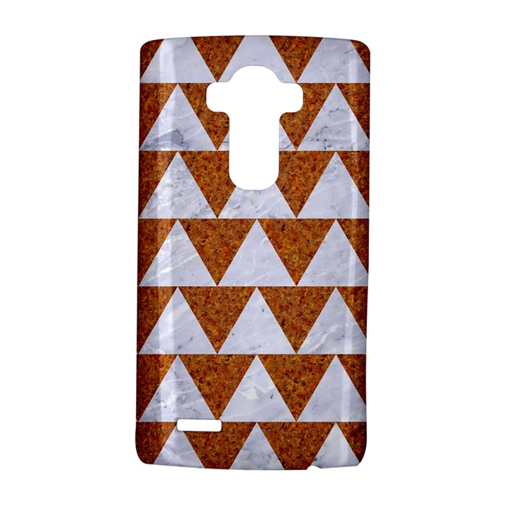 TRIANGLE2 WHITE MARBLE & RUSTED METAL LG G4 Hardshell Case