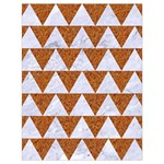 TRIANGLE2 WHITE MARBLE & RUSTED METAL Drawstring Bag (Large) Back
