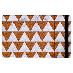 Triangle2 White Marble & Rusted Metal Apple Ipad Pro 12 9   Flip Case
