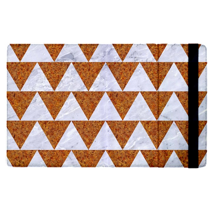 TRIANGLE2 WHITE MARBLE & RUSTED METAL Apple iPad Pro 12.9   Flip Case
