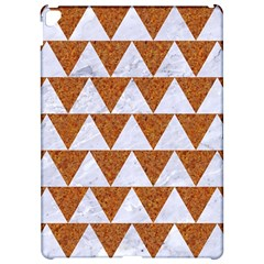 Triangle2 White Marble & Rusted Metal Apple Ipad Pro 12 9   Hardshell Case