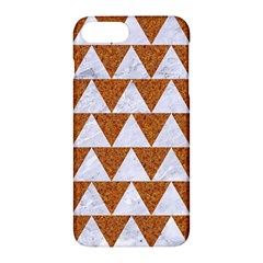 Triangle2 White Marble & Rusted Metal Apple Iphone 7 Plus Hardshell Case