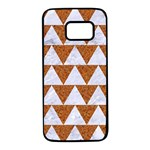 TRIANGLE2 WHITE MARBLE & RUSTED METAL Samsung Galaxy S7 Black Seamless Case Front