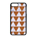 TRIANGLE2 WHITE MARBLE & RUSTED METAL Apple iPhone 7 Plus Seamless Case (Black) Front