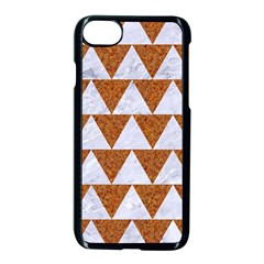 Triangle2 White Marble & Rusted Metal Apple Iphone 7 Seamless Case (black)