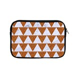 TRIANGLE2 WHITE MARBLE & RUSTED METAL Apple MacBook Pro 15  Zipper Case Front