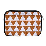 TRIANGLE2 WHITE MARBLE & RUSTED METAL Apple MacBook Pro 17  Zipper Case Front