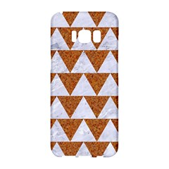 Triangle2 White Marble & Rusted Metal Samsung Galaxy S8 Hardshell Case