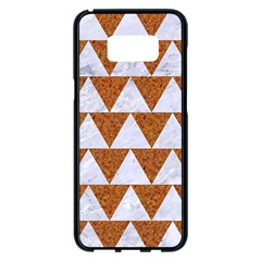 Triangle2 White Marble & Rusted Metal Samsung Galaxy S8 Plus Black Seamless Case