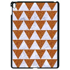 Triangle2 White Marble & Rusted Metal Apple Ipad Pro 9 7   Black Seamless Case
