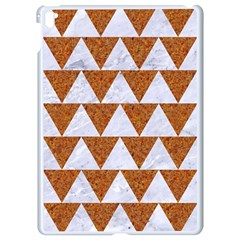 Triangle2 White Marble & Rusted Metal Apple Ipad Pro 9 7   White Seamless Case