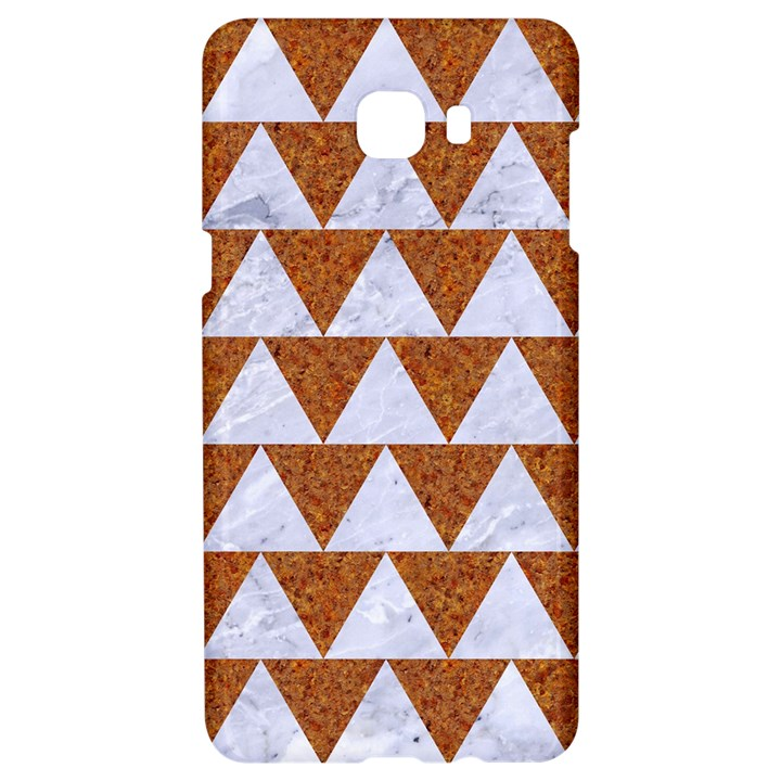 TRIANGLE2 WHITE MARBLE & RUSTED METAL Samsung C9 Pro Hardshell Case