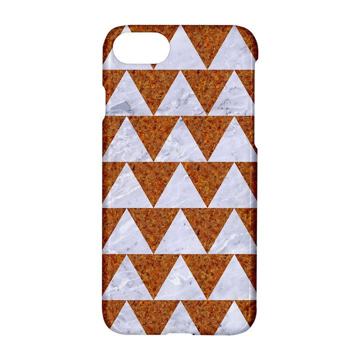 TRIANGLE2 WHITE MARBLE & RUSTED METAL Apple iPhone 8 Hardshell Case