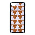 TRIANGLE2 WHITE MARBLE & RUSTED METAL Apple iPhone 8 Seamless Case (Black) Front