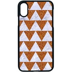 Triangle2 White Marble & Rusted Metal Apple Iphone X Seamless Case (black)