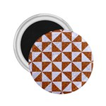TRIANGLE1 WHITE MARBLE & RUSTED METAL 2.25  Magnets Front