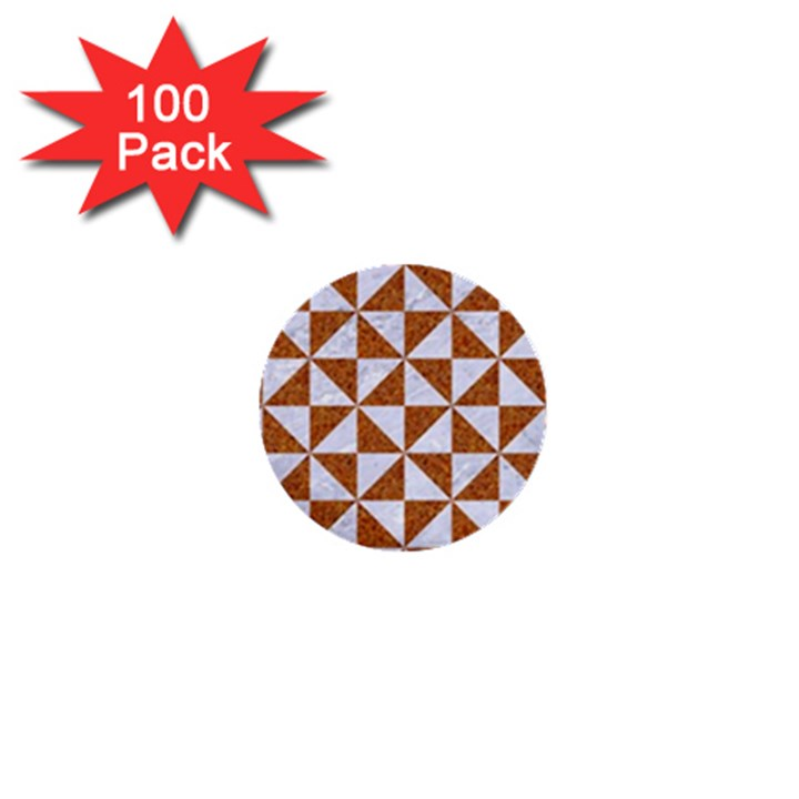 TRIANGLE1 WHITE MARBLE & RUSTED METAL 1  Mini Buttons (100 pack)