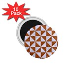 TRIANGLE1 WHITE MARBLE & RUSTED METAL 1.75  Magnets (10 pack)  Front