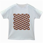 TRIANGLE1 WHITE MARBLE & RUSTED METAL Kids White T-Shirts Front