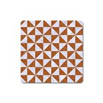 TRIANGLE1 WHITE MARBLE & RUSTED METAL Square Magnet Front