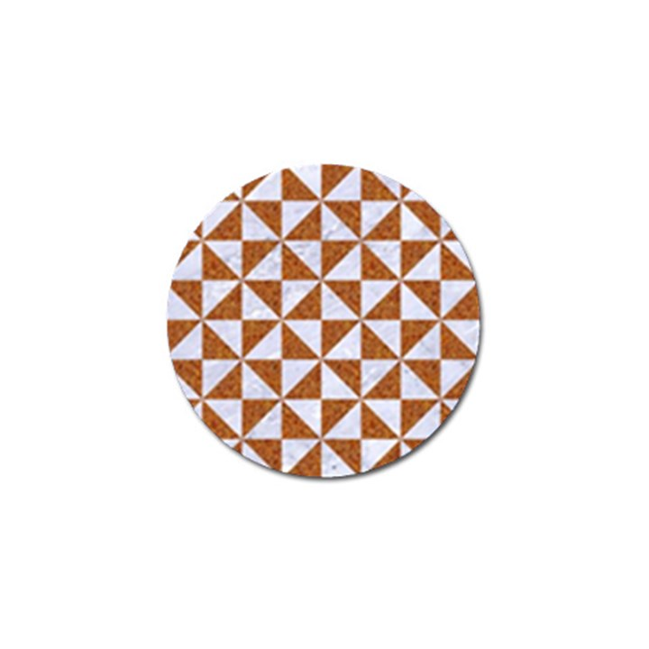 TRIANGLE1 WHITE MARBLE & RUSTED METAL Golf Ball Marker (10 pack)