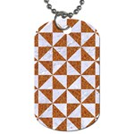 TRIANGLE1 WHITE MARBLE & RUSTED METAL Dog Tag (Two Sides) Back