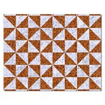 TRIANGLE1 WHITE MARBLE & RUSTED METAL Rectangular Jigsaw Puzzl Front