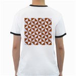 TRIANGLE1 WHITE MARBLE & RUSTED METAL Ringer T-Shirts Back