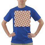 TRIANGLE1 WHITE MARBLE & RUSTED METAL Dark T-Shirt Front