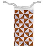 TRIANGLE1 WHITE MARBLE & RUSTED METAL Jewelry Bag Back