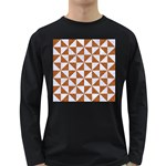 TRIANGLE1 WHITE MARBLE & RUSTED METAL Long Sleeve Dark T-Shirts Front