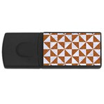 TRIANGLE1 WHITE MARBLE & RUSTED METAL Rectangular USB Flash Drive Front