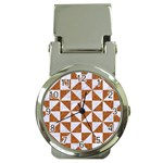 TRIANGLE1 WHITE MARBLE & RUSTED METAL Money Clip Watches Front