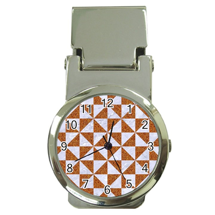 TRIANGLE1 WHITE MARBLE & RUSTED METAL Money Clip Watches