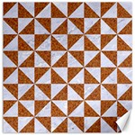 TRIANGLE1 WHITE MARBLE & RUSTED METAL Canvas 12  x 12   12 x12 Canvas - 1