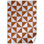 TRIANGLE1 WHITE MARBLE & RUSTED METAL Canvas 12  x 18   18 x12 Canvas - 1