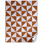 TRIANGLE1 WHITE MARBLE & RUSTED METAL Canvas 18  x 24   24 x18 Canvas - 1