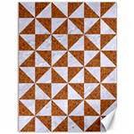 TRIANGLE1 WHITE MARBLE & RUSTED METAL Canvas 36  x 48   48 x36 Canvas - 1