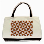 TRIANGLE1 WHITE MARBLE & RUSTED METAL Basic Tote Bag (Two Sides) Back