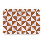 TRIANGLE1 WHITE MARBLE & RUSTED METAL Plate Mats 18 x12 Plate Mat - 1