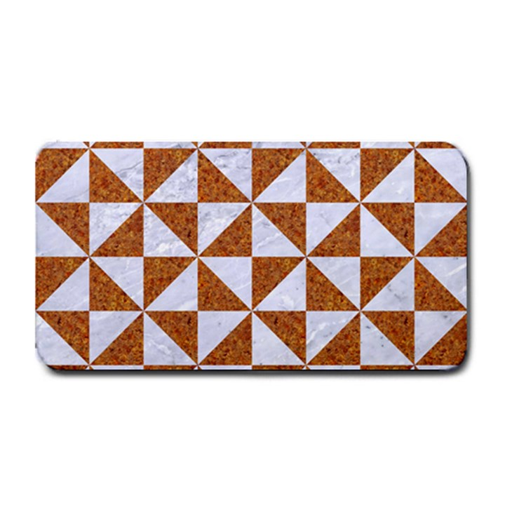 TRIANGLE1 WHITE MARBLE & RUSTED METAL Medium Bar Mats
