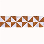 TRIANGLE1 WHITE MARBLE & RUSTED METAL Large Bar Mats 34 x9.03 Bar Mat - 1