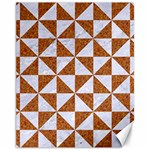 TRIANGLE1 WHITE MARBLE & RUSTED METAL Canvas 11  x 14   14 x11 Canvas - 1