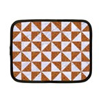 TRIANGLE1 WHITE MARBLE & RUSTED METAL Netbook Case (Small)  Front