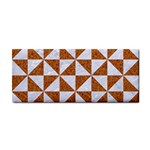 TRIANGLE1 WHITE MARBLE & RUSTED METAL Cosmetic Storage Cases Front