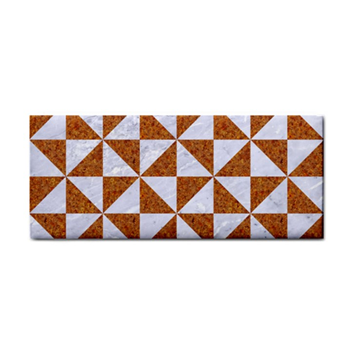 TRIANGLE1 WHITE MARBLE & RUSTED METAL Cosmetic Storage Cases