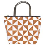 TRIANGLE1 WHITE MARBLE & RUSTED METAL Bucket Bags Front