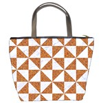 TRIANGLE1 WHITE MARBLE & RUSTED METAL Bucket Bags Back