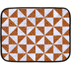 Triangle1 White Marble & Rusted Metal Double Sided Fleece Blanket (mini)