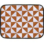 TRIANGLE1 WHITE MARBLE & RUSTED METAL Double Sided Fleece Blanket (Mini)  35 x27 Blanket Back